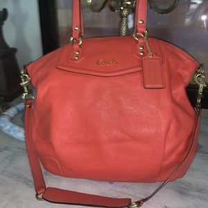 Coach Ashley North South Leather Bag